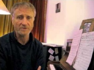 Sean O'Hagan recent photo at piano from youtube
